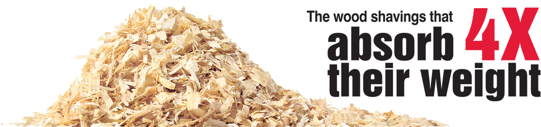 The wood shavings that absorb 4 times their weight
